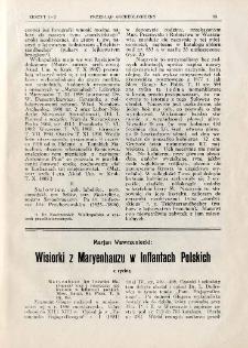Wisiorki z Maryenhauzu w Inflantach Polskich