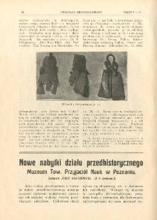 Nowe nabytki działu przedhistorycznego Muzeum Tow. Przyjaciół Nauk w Poznaniu