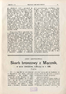 Skarb bronzowy z Mącznik, w pow. średzkim, odkryty w r. 1818