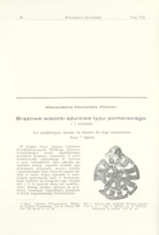Brązowe wisiorki ażurowe typu pomorskiego
