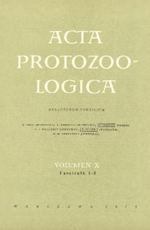 Acta Protozoologica, Vol. X, Fasc. 1-5