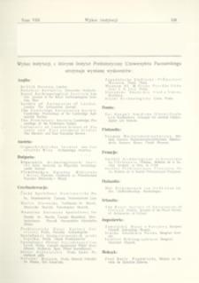 Wykaz instytucji, z którymi Instytut Prehistoryczny Uniwersytetu Poznańskiego utrzymuje wymianę wydawnictw