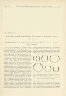 Radziecki sposób graficznego odtwarzania i mierzenia naczyń