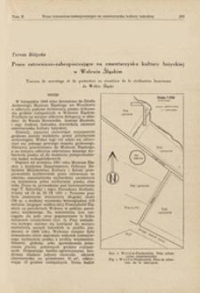 Prace ratowniczo-zabezpieczające na cmentarzysku kultury łużyckiej w Wołowie Śląskim