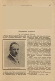 Śp. Prof. Dr Ludwik Piotrowicz : wspomnienie pośmiertne