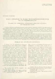Wagi i odważniki na Śląsku wczesnośredniowiecznym na tle porównawczym