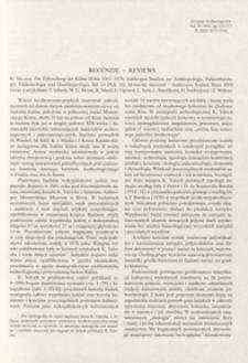 Die Erforschung der Kulna-Höhle 1961-1976, K. Valoch, Anthropos Studien zur Anthropologie, Palaoethnologie, Palaontologie und Quartargeologie, Bd. 24 (N.S. 16), Brno 1988 : [recenzja]