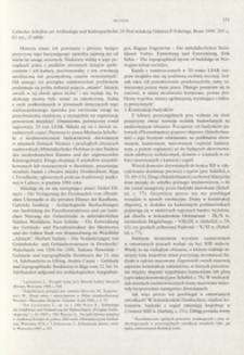 Lübecker Schriften zur Archäologie und Kulturgeschichte. 20, hrsg. von Günter P. Fehring, Bonn 1990 : [recenzja]