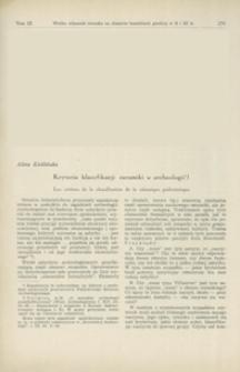 Kryteria klasyfikacji ceramiki w archeologii