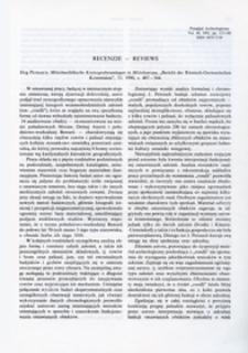 Mittelneolithische Kreisgrabenanlagen in Mitteleuropa, Jörg Petrasch, Bericht der Romisch-Germanischen Kommision, 71: (1990), s. 407-564 : [recenzja]