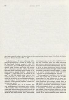 Le calcul et la raison : essais sur la formalisation du discours Samant, Jean-Claude Gardin, Paris, 1991 : [recenzja]