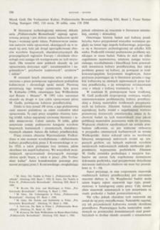 Die Vorlausitzer Kultur, Marek Gedl, Stuttgart 1992 : [recenzja]