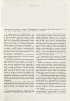 Die Schwerter in Ungarn II (Vollgriffschwerter). T. Kemenczei, Stuttgart 1991 : [recenzja]