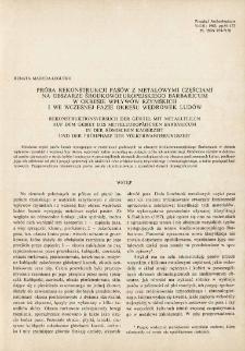 Próba rekonstrukcji pasów z metalowymi częściami na obszarze środkowoeuropejskiego Barbaricum w okresie wpływów rzymskich i we wczesnej fazie okresu wędrówek ludów