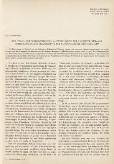 Zur Frage der nordwestlichen Auswirkungen der Lausitzer Keramik. Bemerkungen zur Bearbeitung des Fundmaterials aus Hallunda