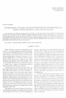Environment, economy and habitation during the Mesolithic at Dudka, Great Masurian Lakeland, NE Poland