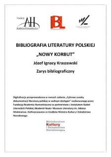 Józef Ignacy Kraszewski : zarys bibliograficzny