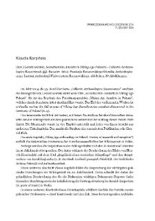 Scandinavian Amulets in Viking Age Poland (= Collectio Archaeologica Ressoviensis 33). Leszek Gardeła, Rzeszów 2014 : [recenzja]