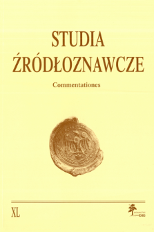 Studia Źródłoznawcze = Commentationes T. 40 (2002), Zapiski krytyczne i sprawozdania