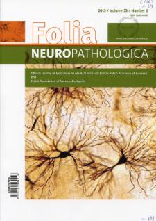 Folia Neuropathologica : former Neuropatologia Polska. Vol.53 (2015) nr 1