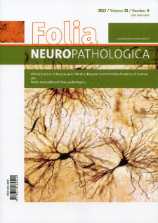 Folia Neuropathologica : former Neuropatologia Polska. Vol.53 (2015) nr 4