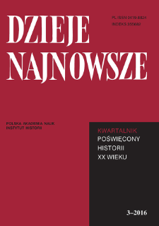 Dzieje Najnowsze : [kwartalnik poświęcony historii XX wieku] R. 48 z. 3 (2016), Recenzje