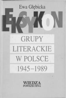 Grupy literackie w Polsce 1945-1989 : leksykon