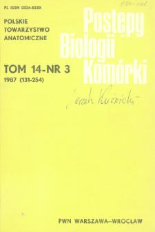 Postępy biologii komórki, Tom 14 nr 3, 1987