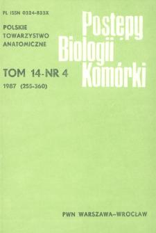 Postępy biologii komórki, Tom 14 nr 4, 1987