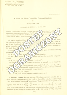 A note on first countable compactifications