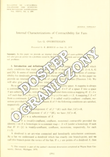 Internal characterizations of contractibility for fans