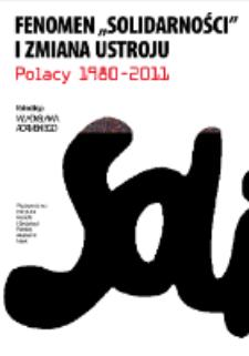 """Fenomen """"Solidarności"""" i zmiana ustroju. Strona tytułowa i spis treści"""