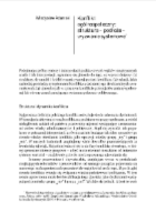 Konflikt ogólnospołeczny: struktura – podłoże – wyzwanie systemowe