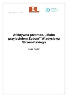 """Afektywna przemoc. """"Moim przyjaciołom Żydom"""" Władysława Strzemińskiego"""