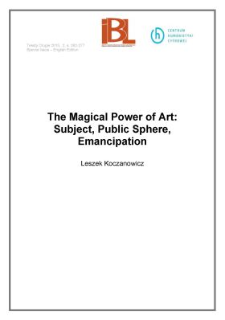 The Magical Power of Art: Subject, Public Sphere, Emancipation