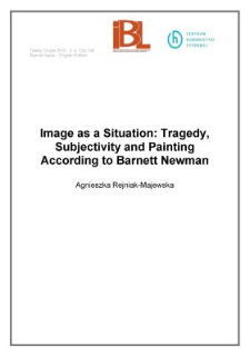 Image as a Situation: Tragedy, Subjectivity and Painting According to Barnett Newman
