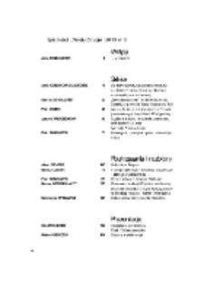 Teksty Drugie Nr 5 (2013), Spis treści