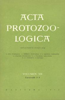 Acta Protozoologica, Vol. XII, Fasc. 1-5