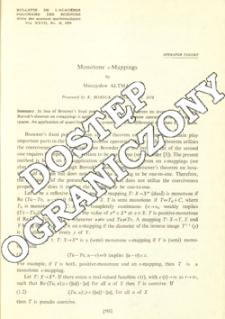 Monotone ε-mappings