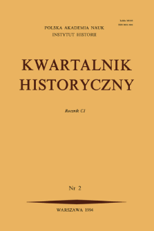Kwartalnik Historyczny. R. 91 nr 3 (1984), Title pages, Contents
