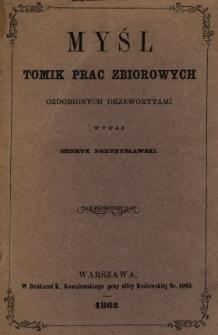 Myśl : tomik prac zbiorowych ozdobionych drzeworytami