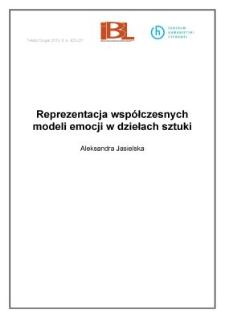 Reprezentacja współczesnych modeli emocji w dziełach sztuki