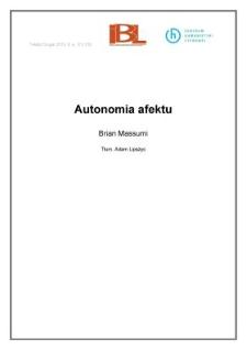 Autonomia afektu
