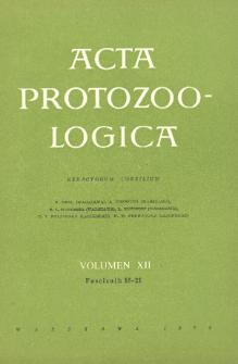 Acta Protozoologica, Vol. XII, Fasc. 15-21 (1974)