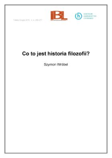 Co to jest historia filozofii?