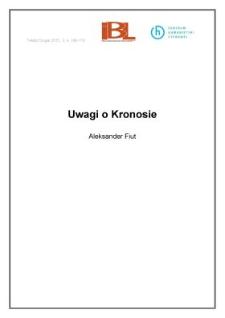 Uwagi o Kronosie