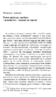 Protest społeczny: aprobata - uczestnictwo stosunek do represji