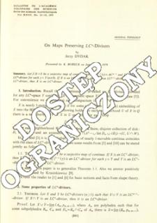 On maps preserving LCn-divisors