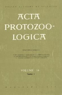 Acta Protozoologica, Vol. 14, Nr 1 (1975)