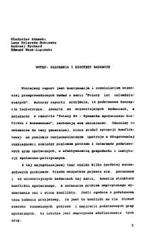 Polacy 88. Wstęp: założenia i hipotezy badawcze